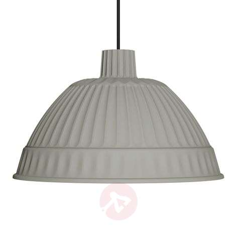 Suspension de designer gris clair Cloche