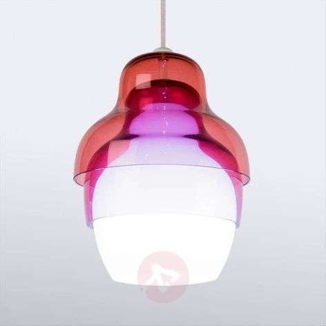 Suspension Innermost Matrioshka fuchsia blanc