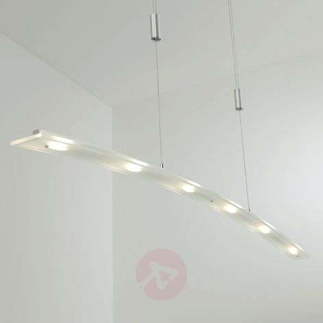 Suspension LED en verre Juna, variable, 116 cm