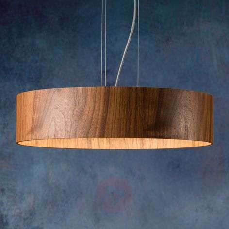 Suspension LED Lara Wood en noyer