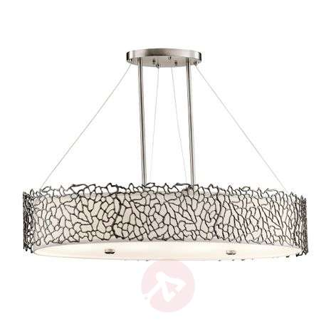 Suspension ovale Silver Coral