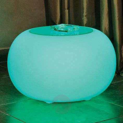 Table Bubble LED ACCU Outdoor ac plaque de verre