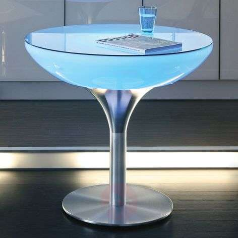 Table lumineuse multicolore LOUNGE avec LED