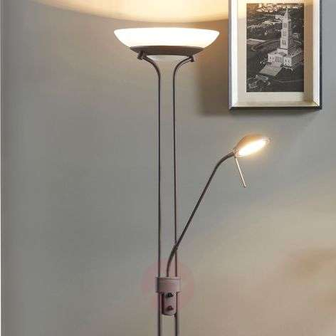 Yveta - lampadaire LED variable rouille