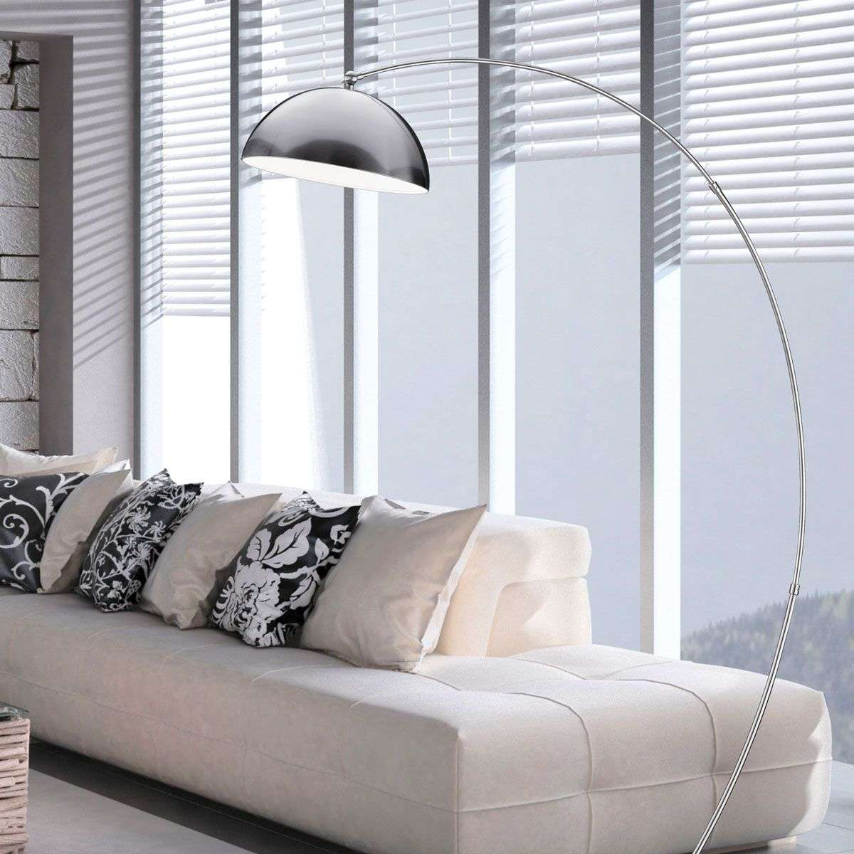 lampadaire led arqu florestan avec variateur. Black Bedroom Furniture Sets. Home Design Ideas