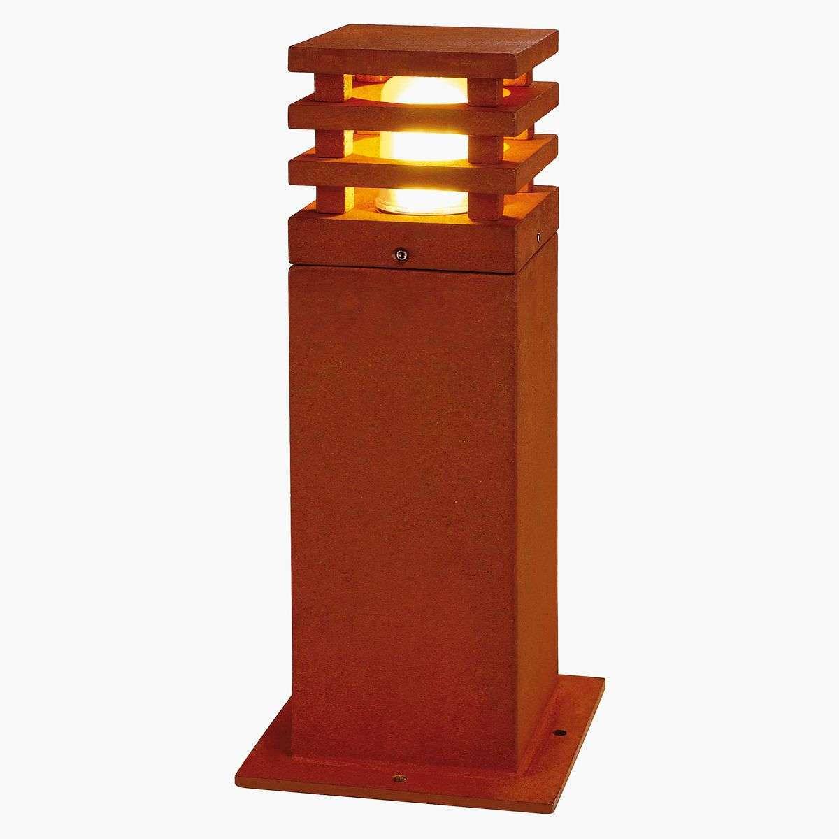 luminaire pour socle haut de gamme rusty square. Black Bedroom Furniture Sets. Home Design Ideas
