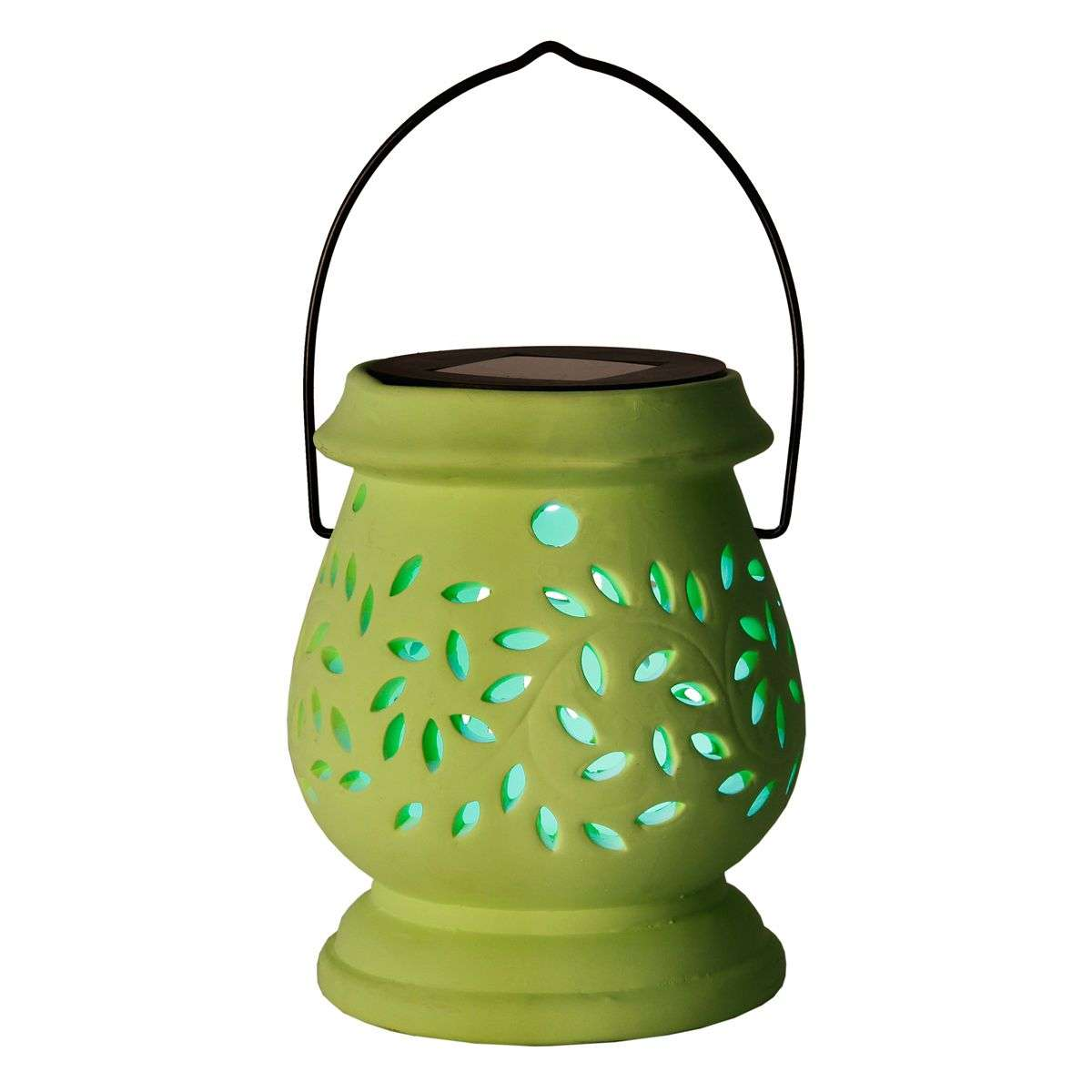 Photophore LED solaire vert Clay Lantern-1522714-31