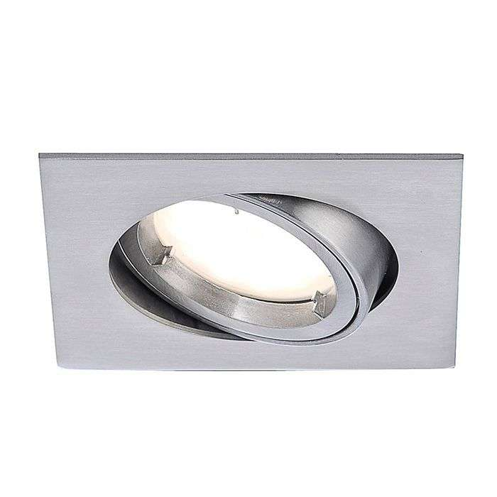 Plafonnier encastrable LED Lumeco, variable, alu-7610408-31
