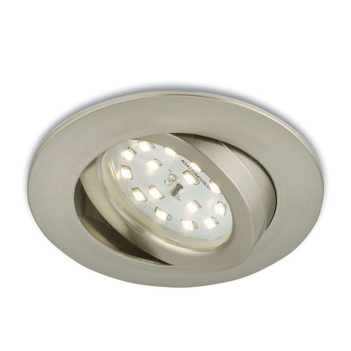 Spot encastré LED mobile Erik nickel mat-1510283-31