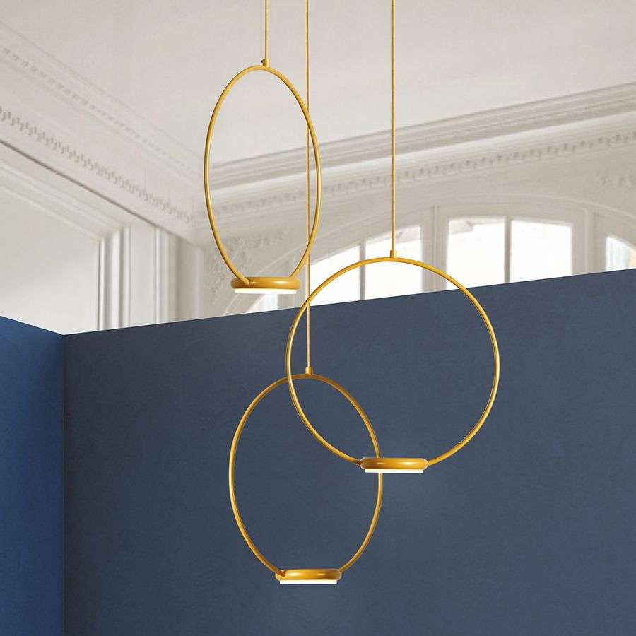 Suspension led dor e odigiotto trois lampes for Suspension trois lampes