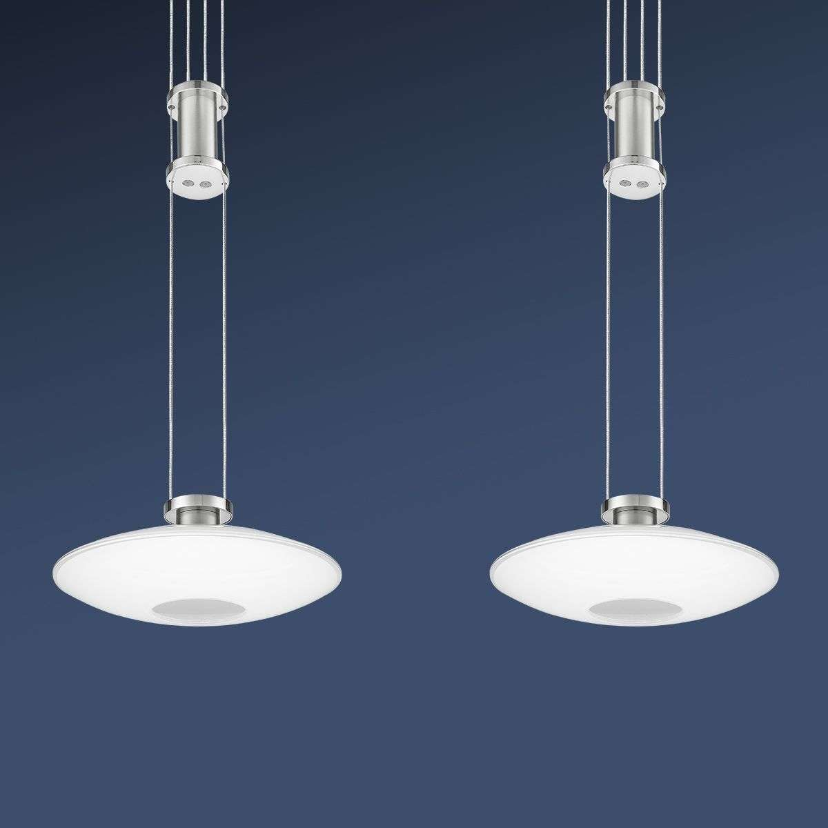 Lampes New Suspension Nickel Tcqhrsd Elina Led Deux À gbf6vYy7