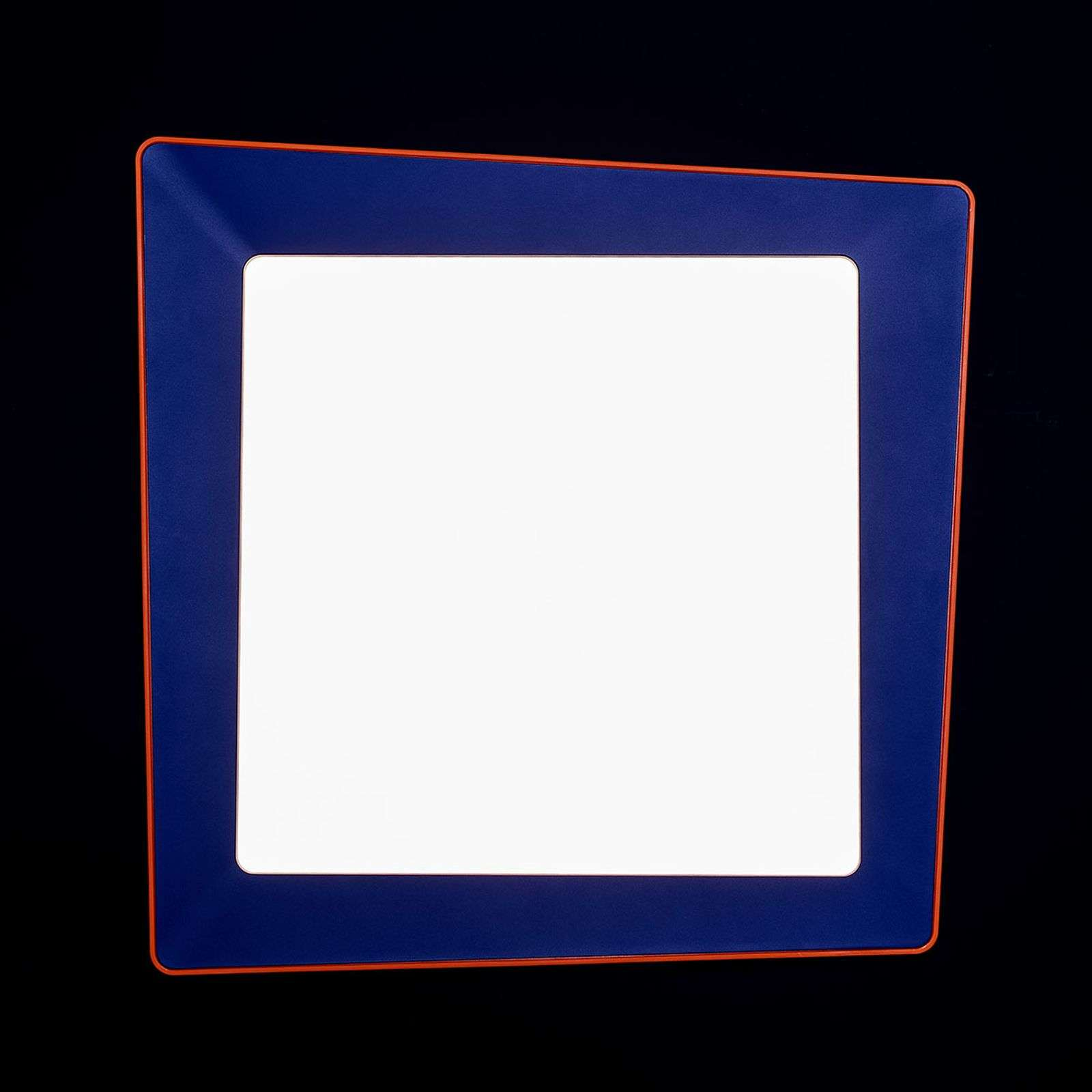 Applique LED de designer Crazy en bleu-orange
