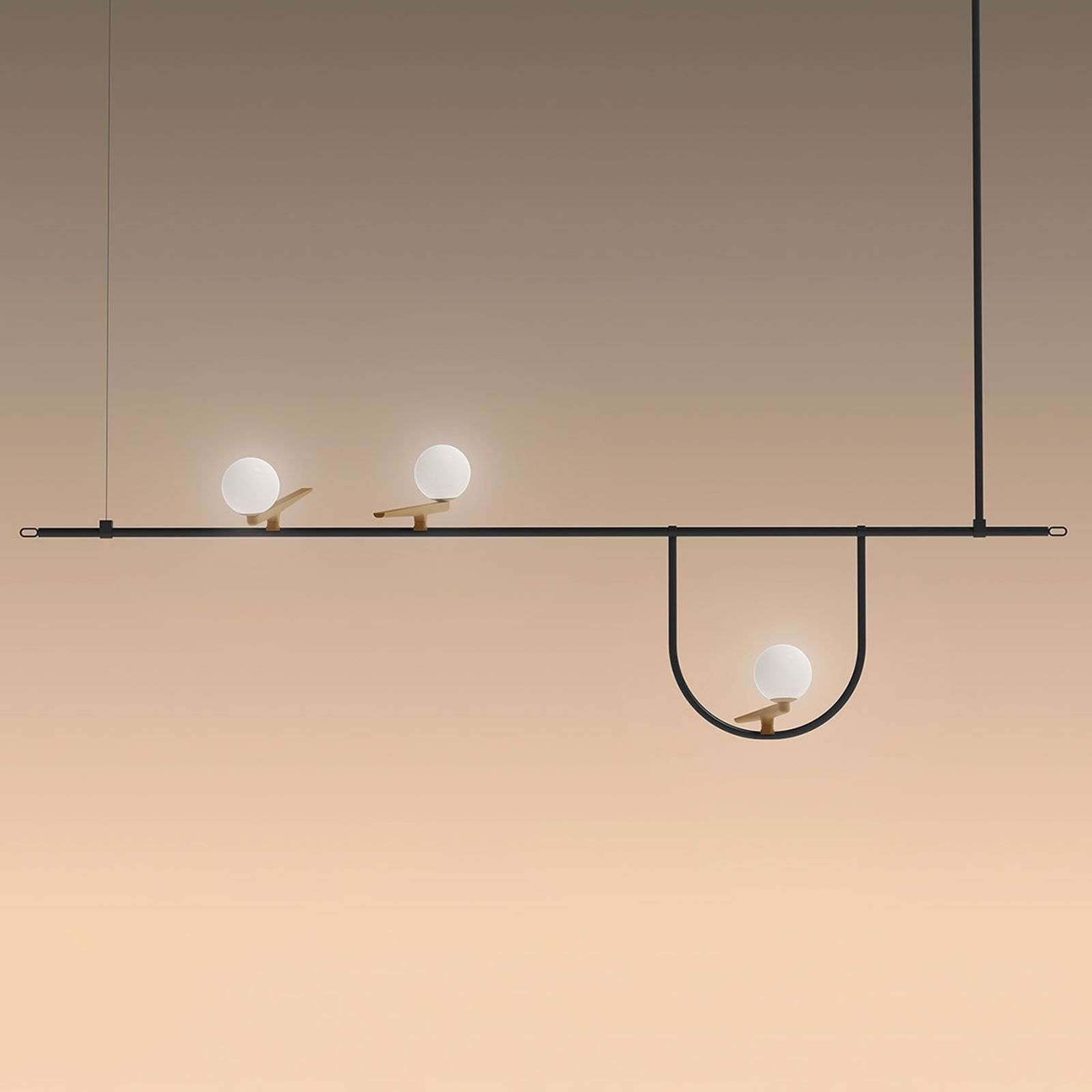 Artemide Yanzi suspension LED push dim