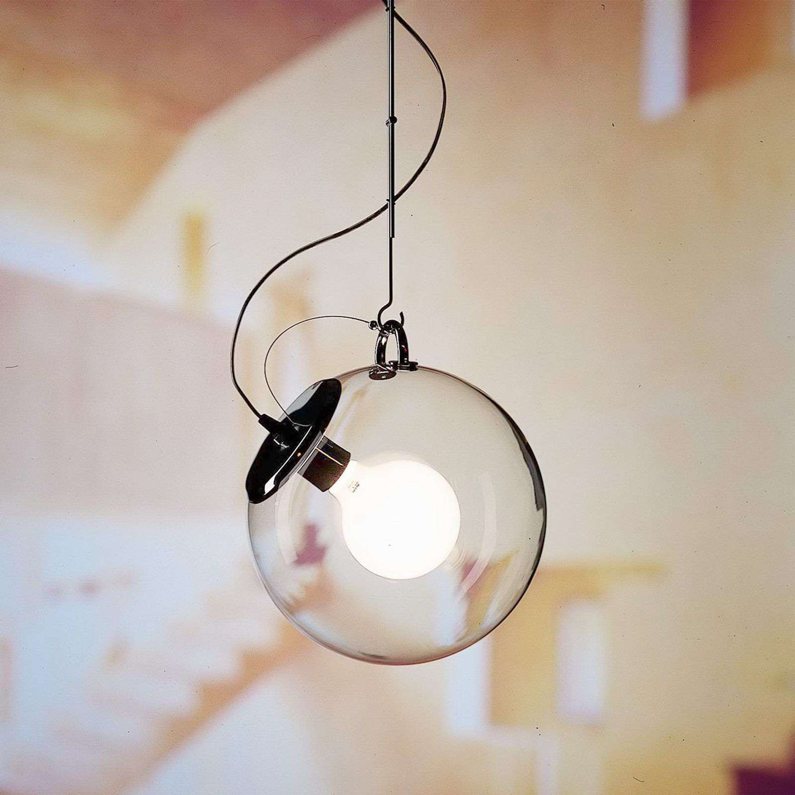 Artemide Miconos suspension en verre et chrome