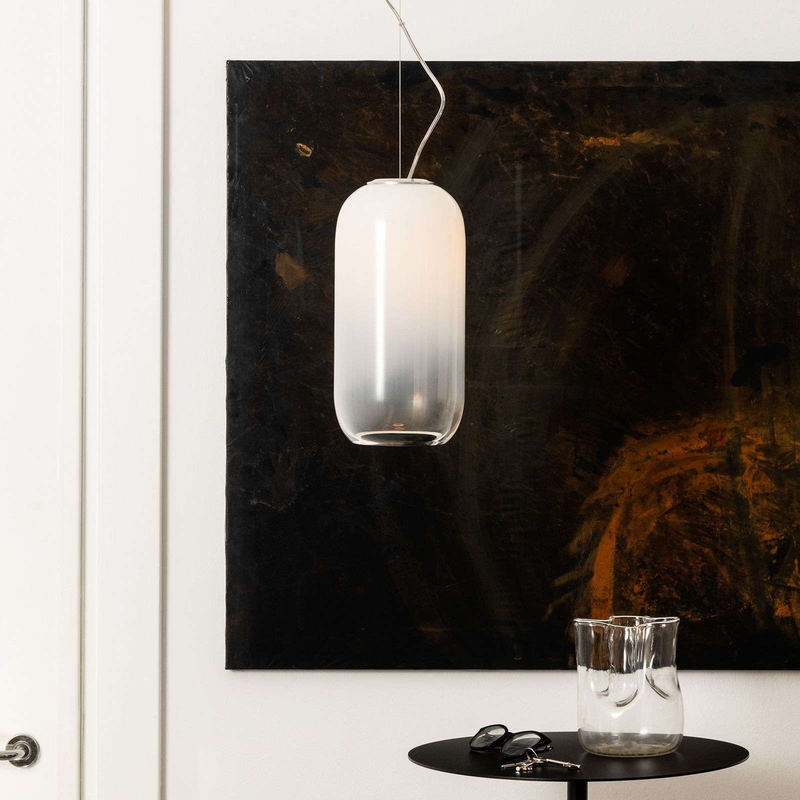 Artemide Gople suspension en verre, blanche