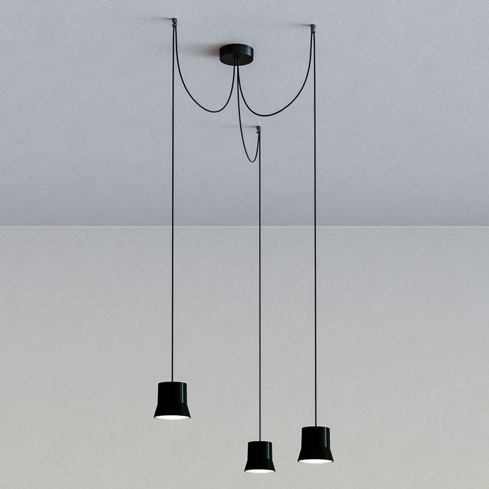 Artemide GIO.light Cluster suspension, noir
