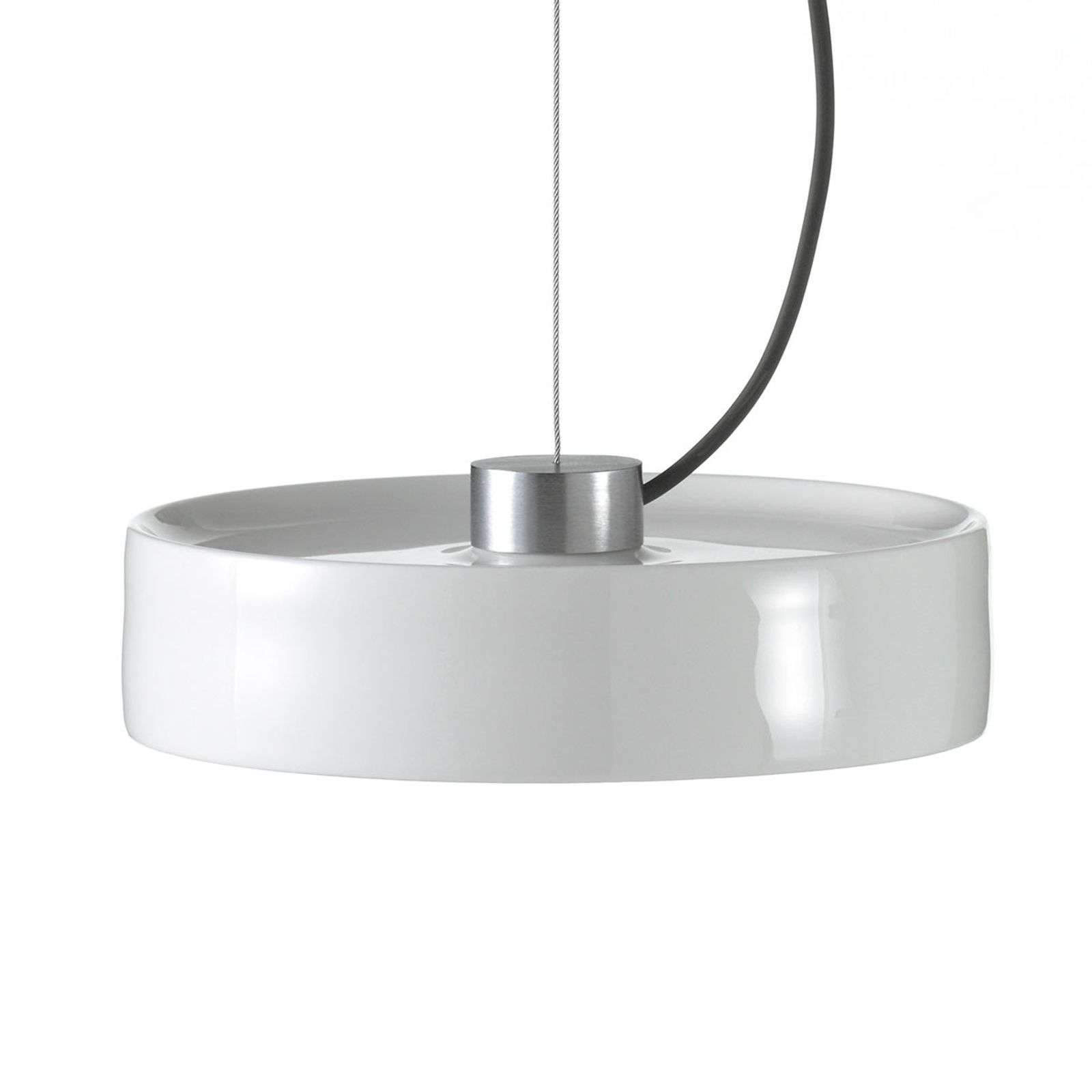 Suspension LED Maru avec abat-jour en porcelaine
