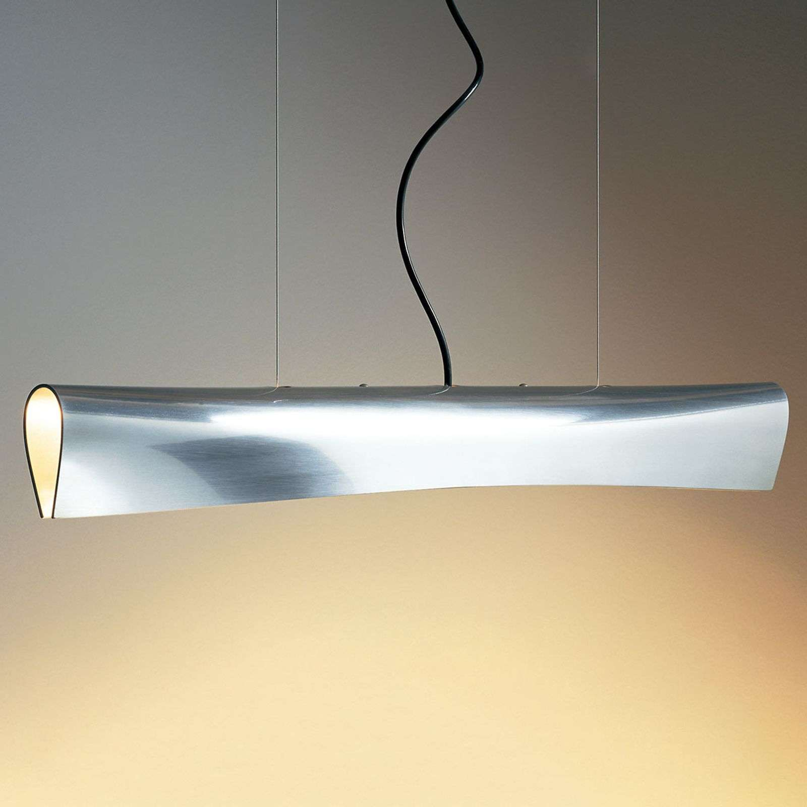 Suspension LED de designer Nil, câble noir