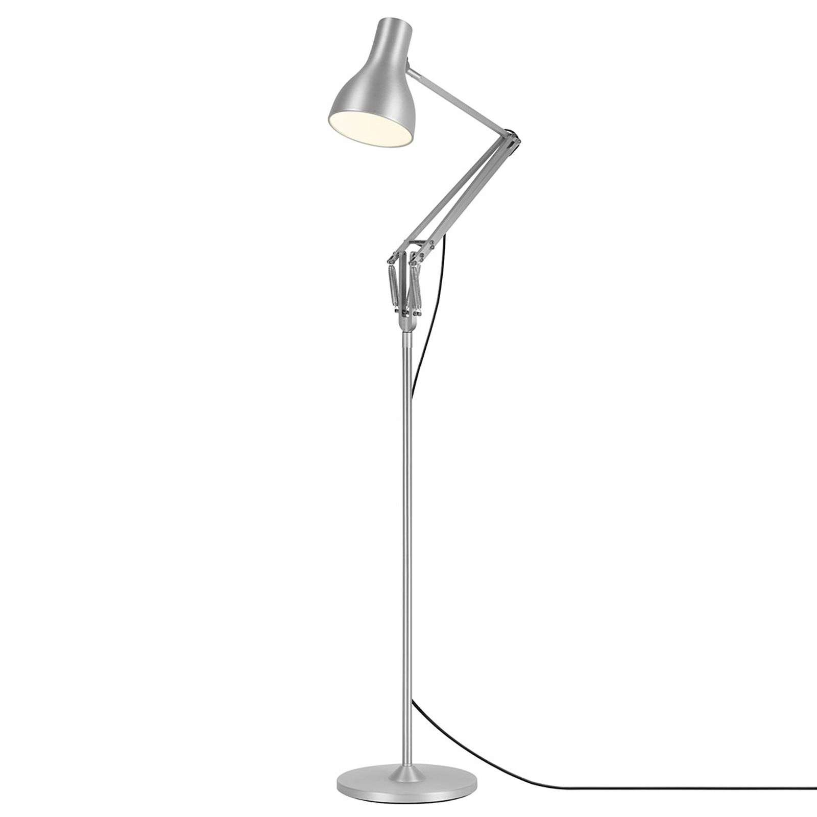 Anglepoise Type 75 lampadaire argenté