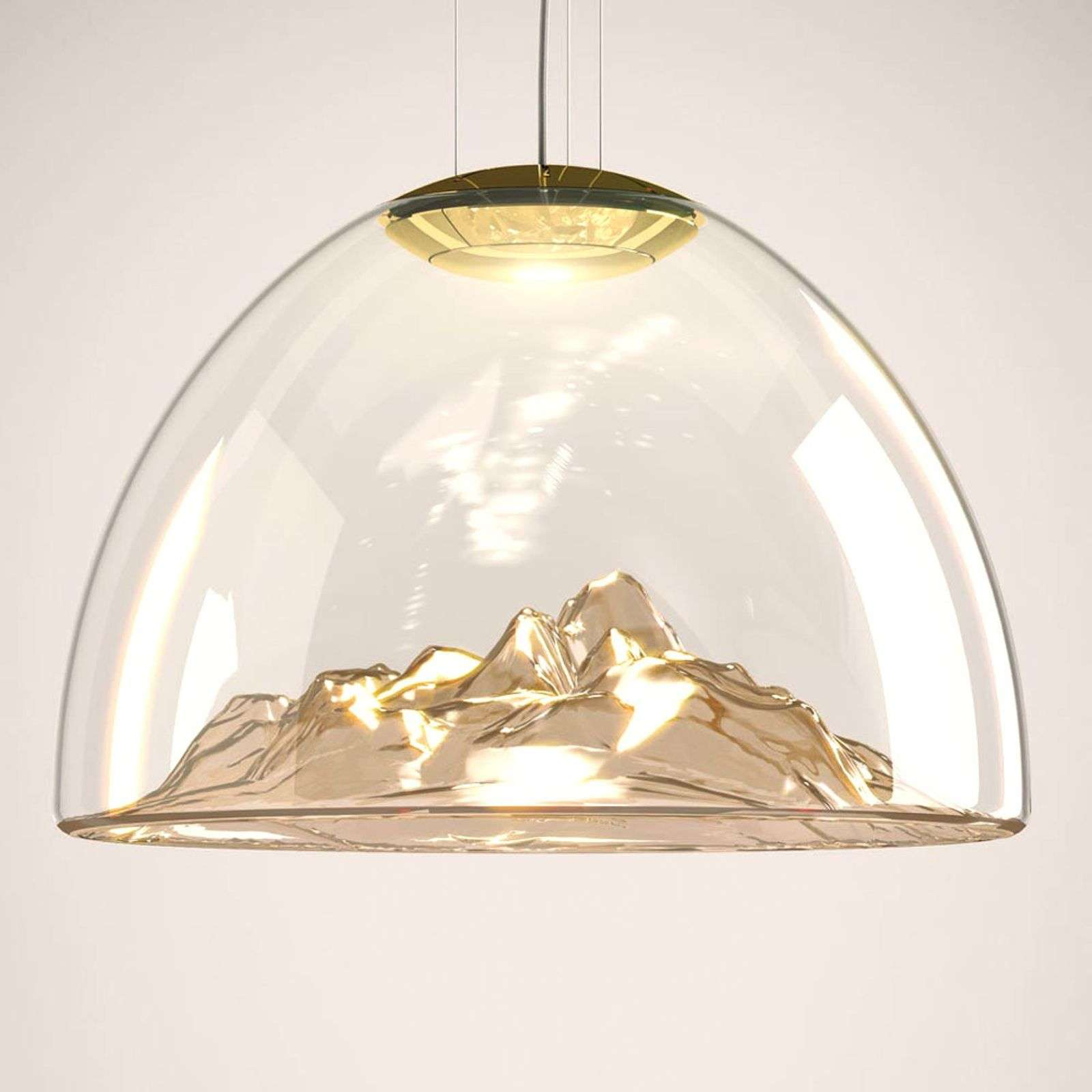 Belle suspension LED de designer Mountain View