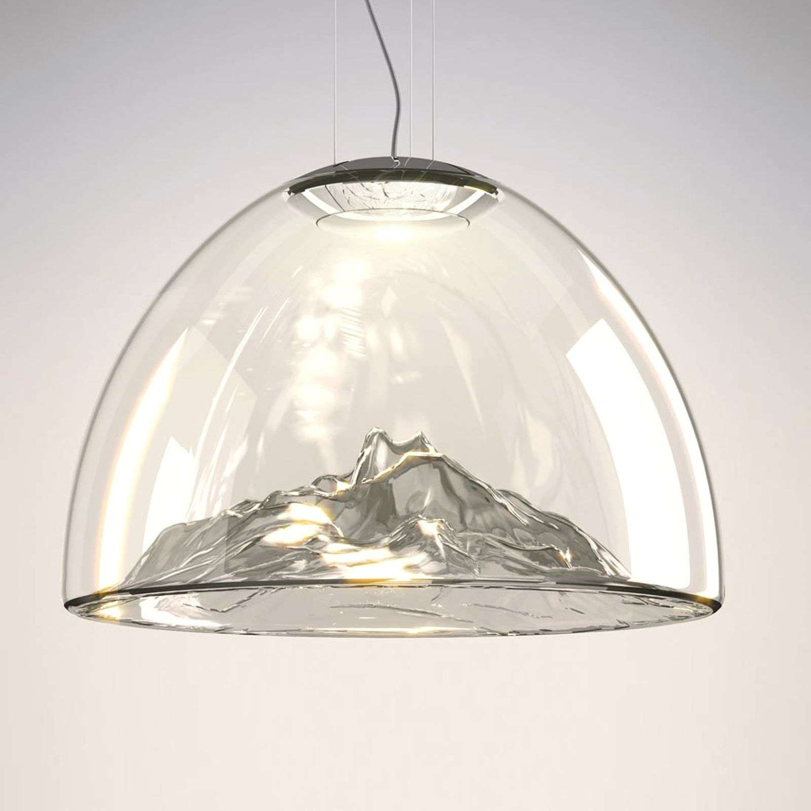 Luxueuse suspension LED de designer Mountain View
