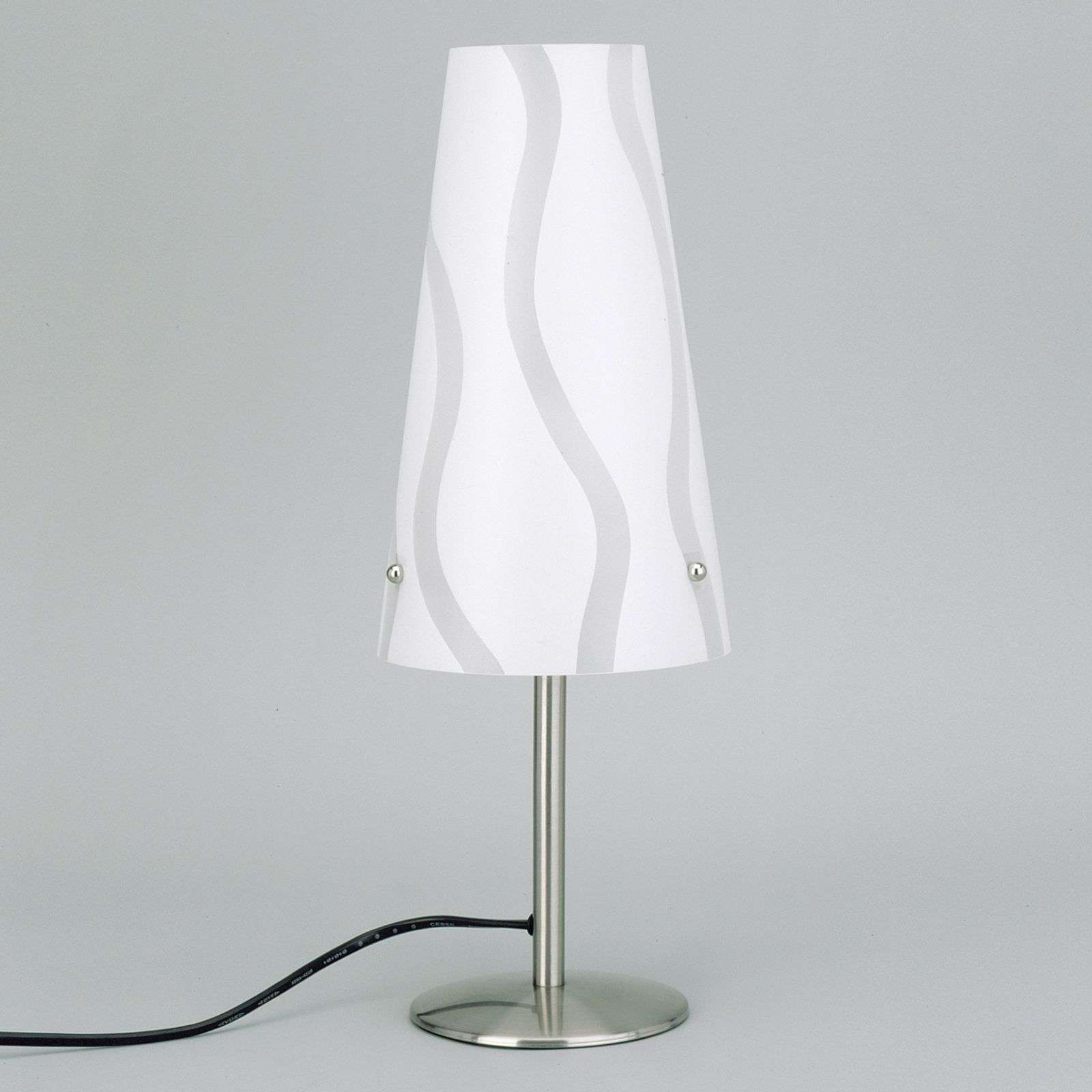 Lampe à poser moderne Isi blanche