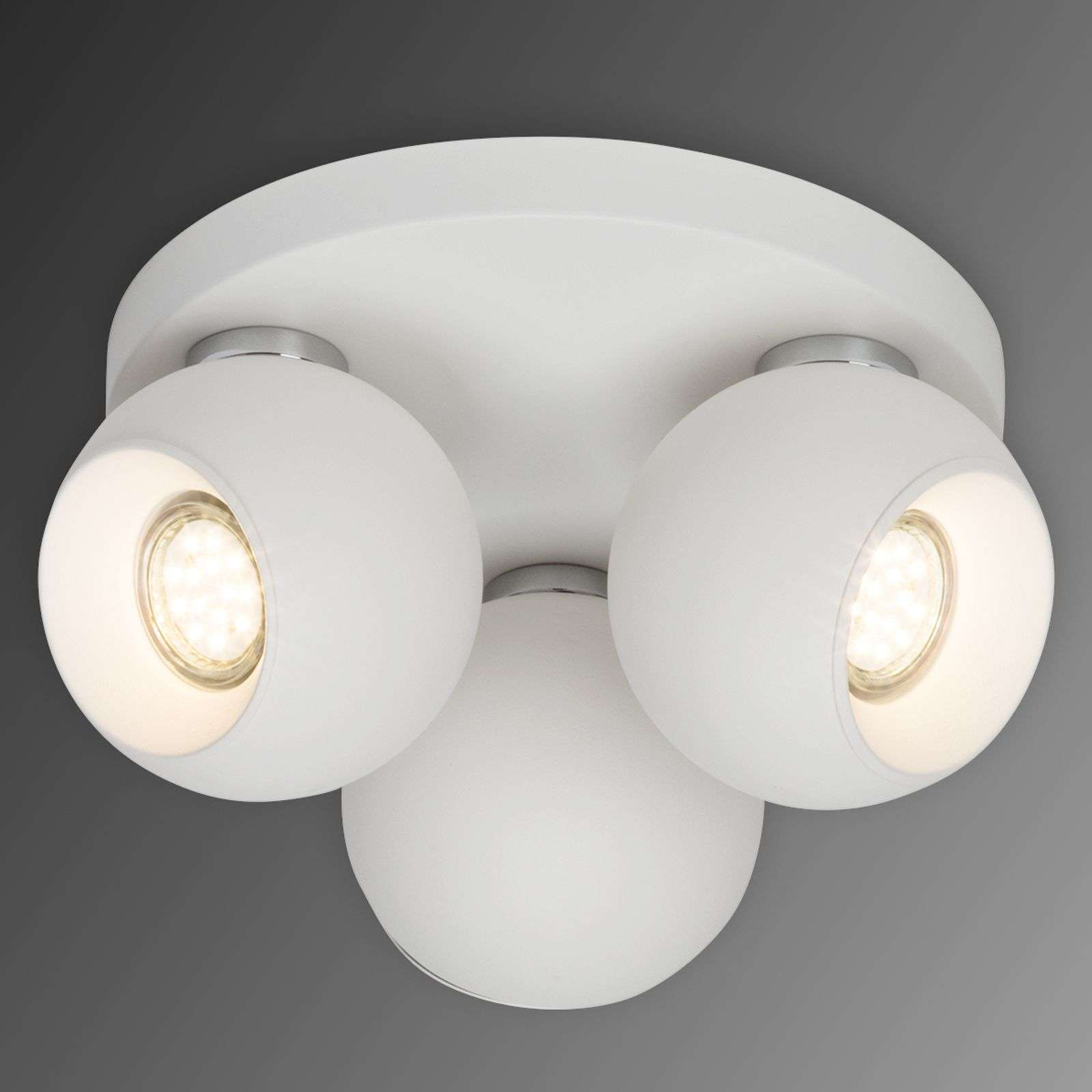 Plafonnier LED circulaire White Ball, 3 lampes