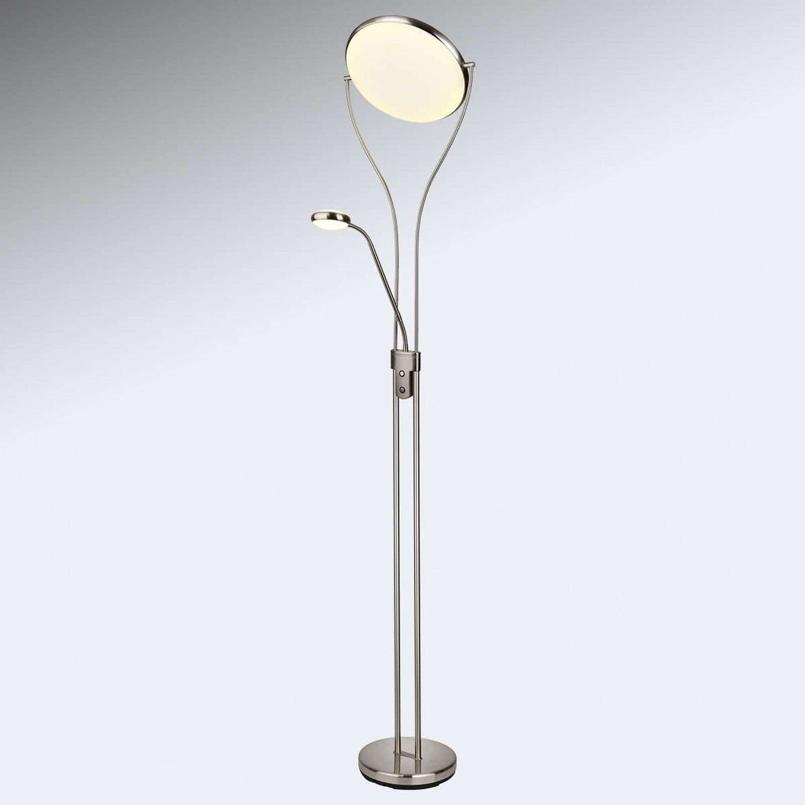 Lampadaire éclairage indirect LED Double, liseuse