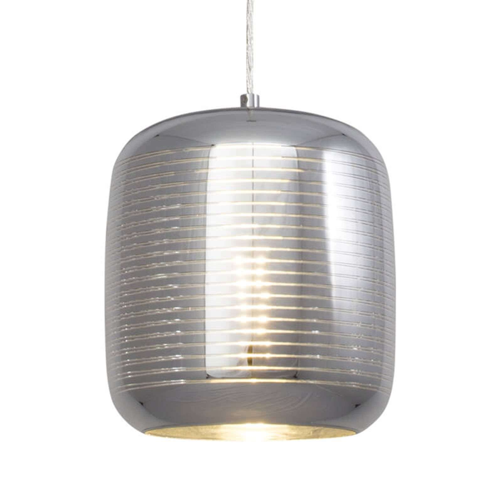 Suspension moderne Feeling, abat-jour en verre