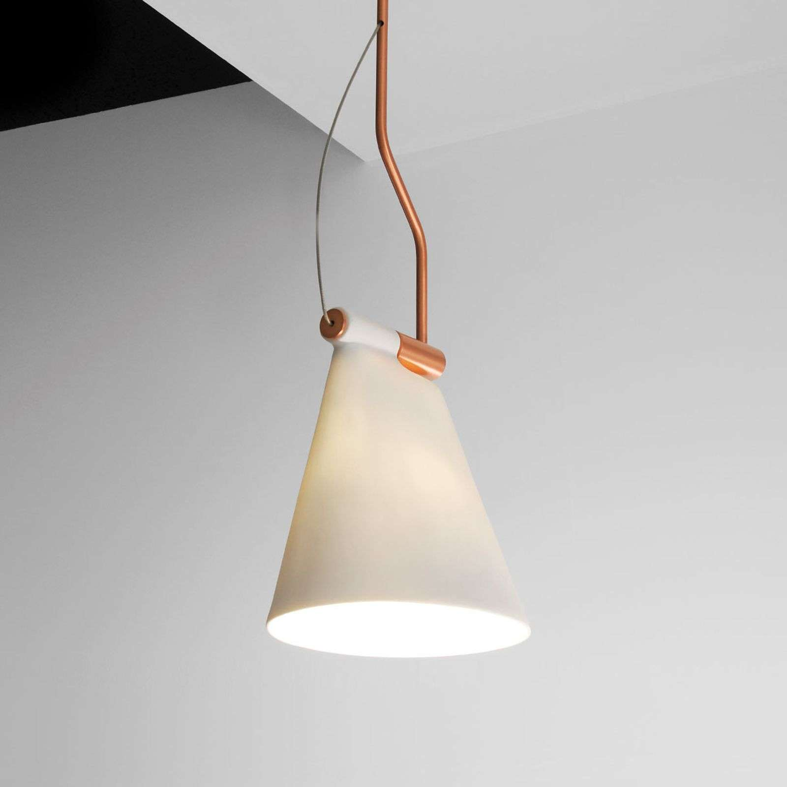 Suspension Cone Light S1, abat-jour en porcelaine