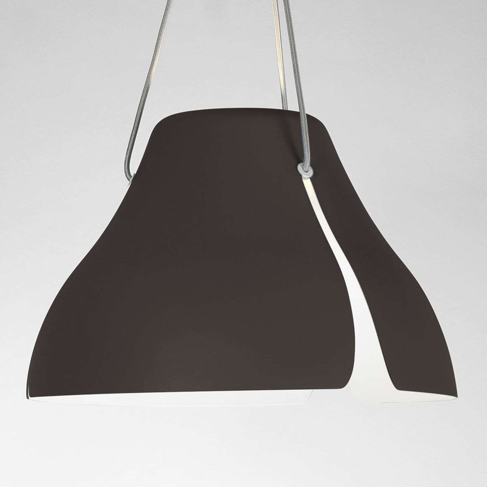 Suspension LED Gingko S40 40 cm brune
