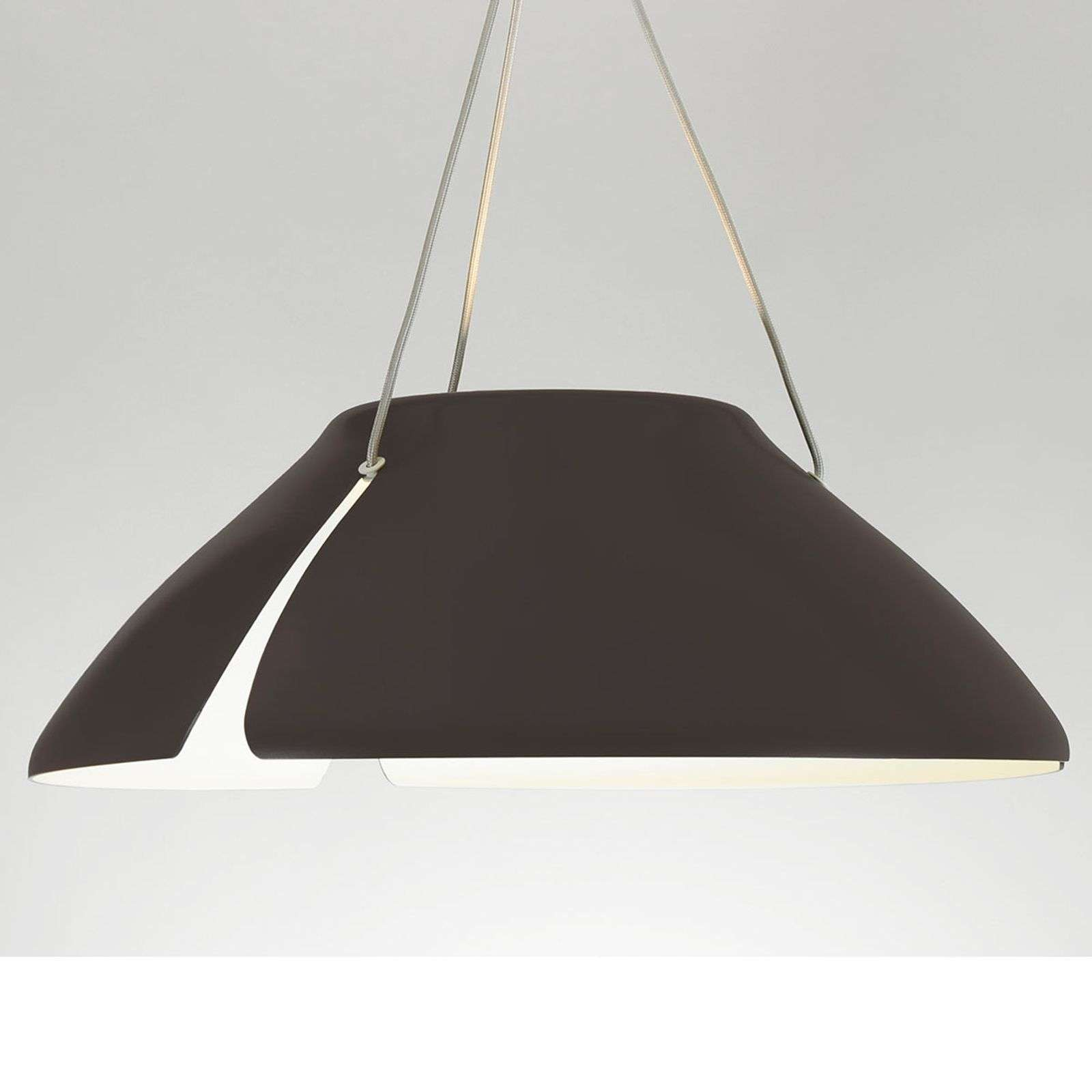 Suspension LED brune Gingko S50 50 cm