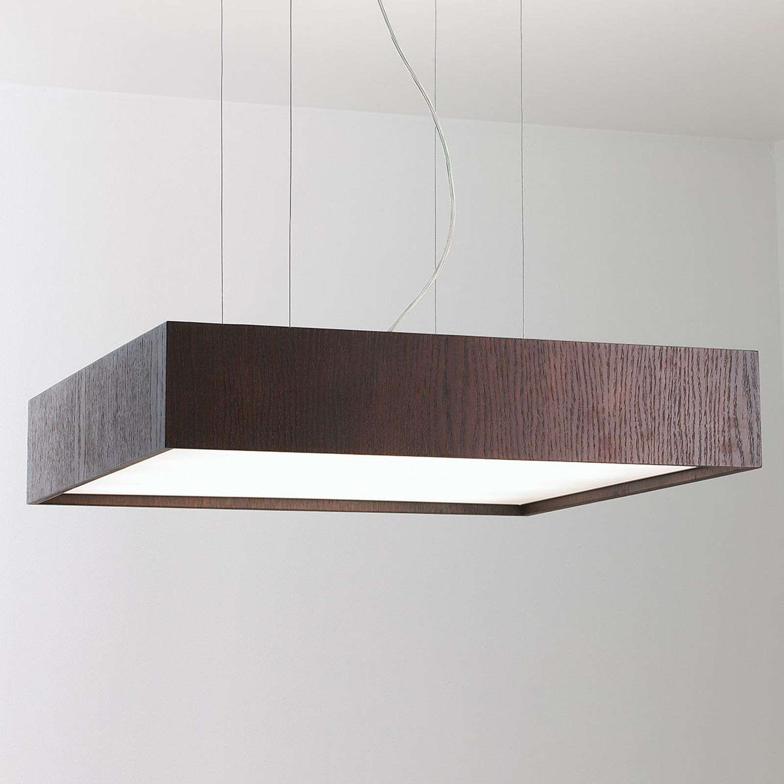 Suspension Carré S avec LED 60x60, wenge