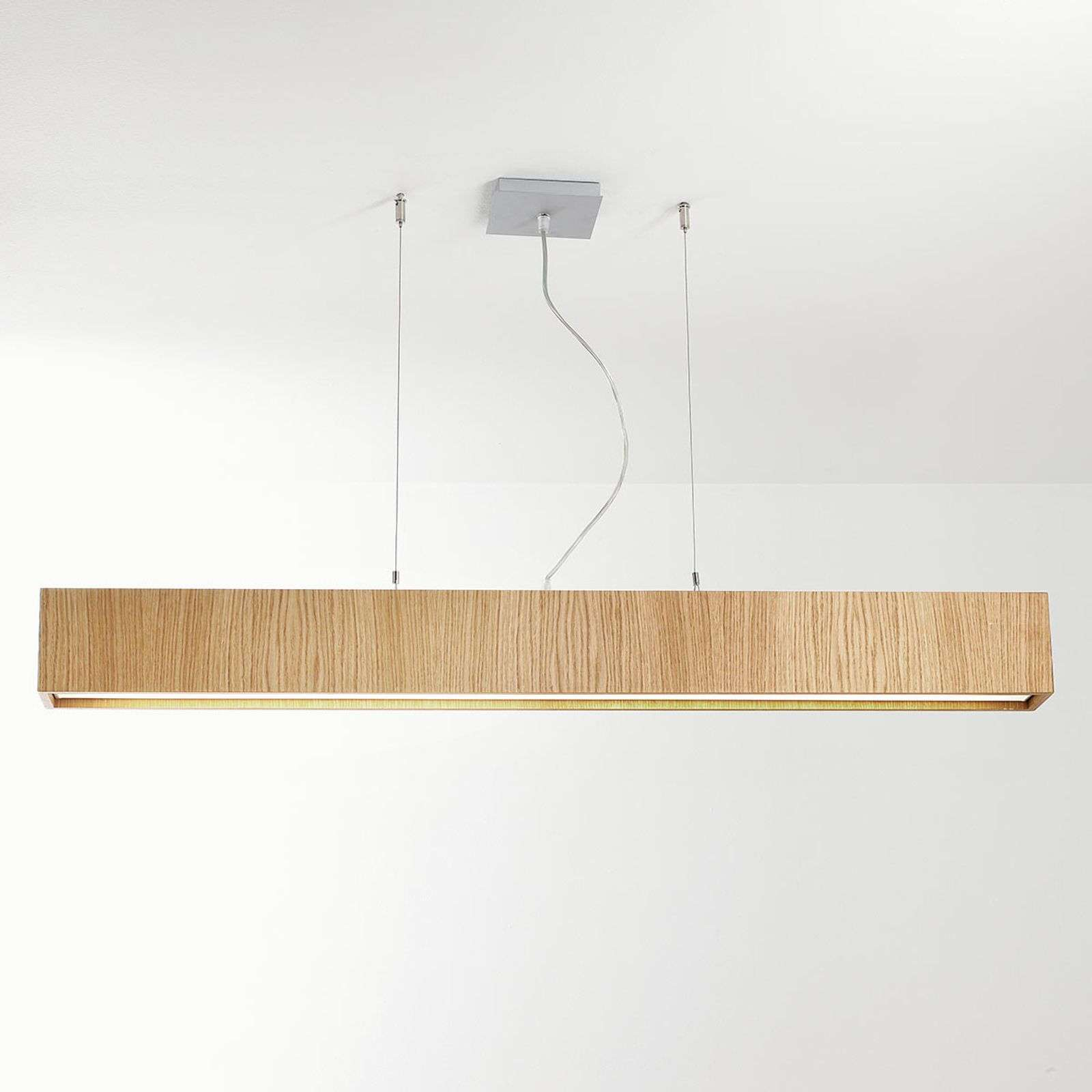 Suspension LED Carré S 120x10, chêne