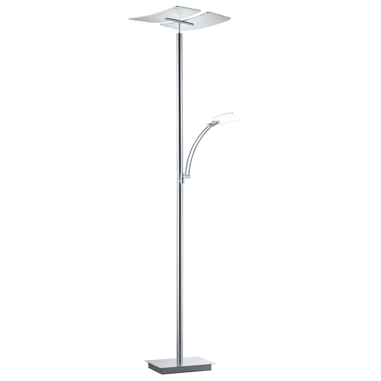 Lampadaire LED Duo, liseuse, variateur d'intensité