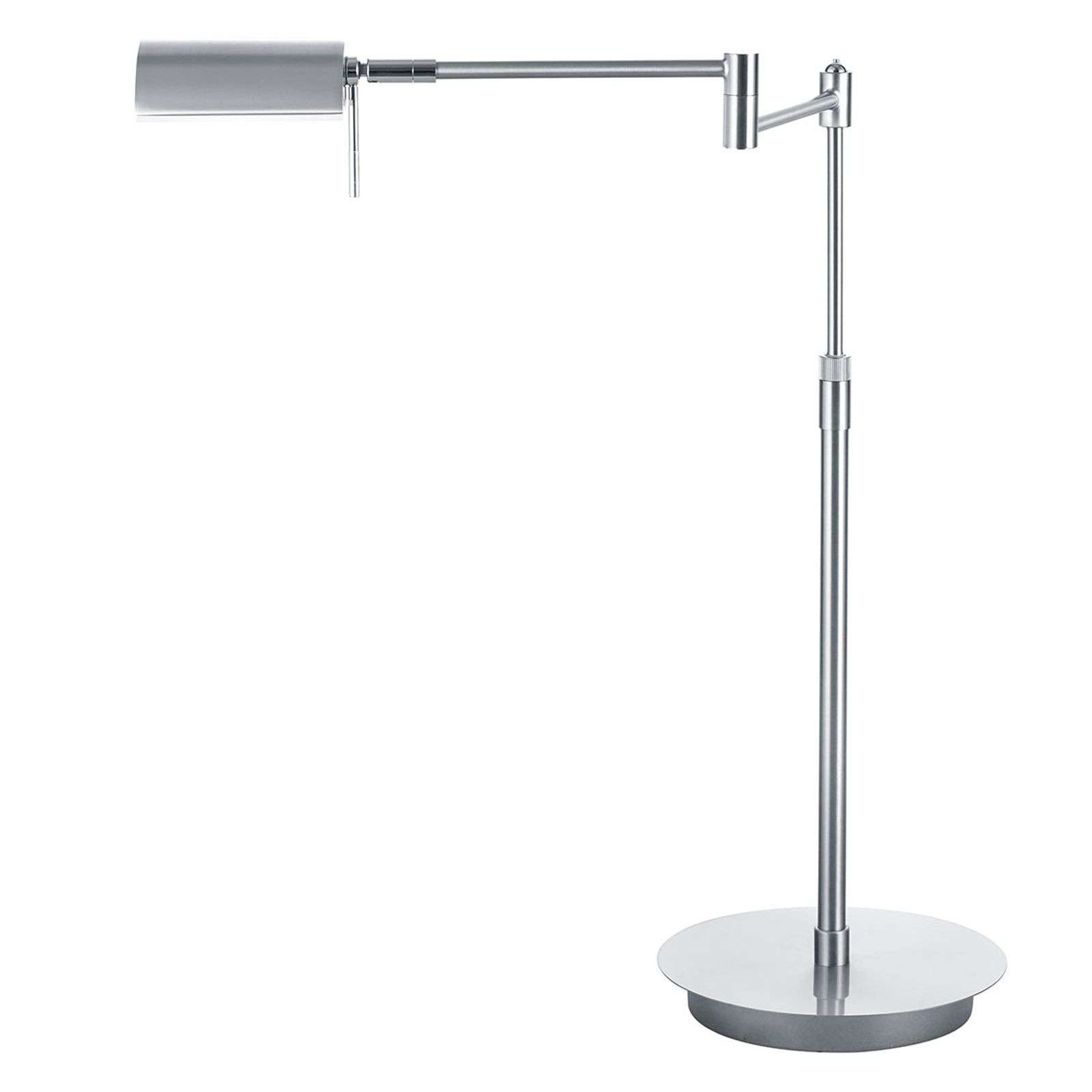 Lampe de bureau LED Graz réglable, nickel