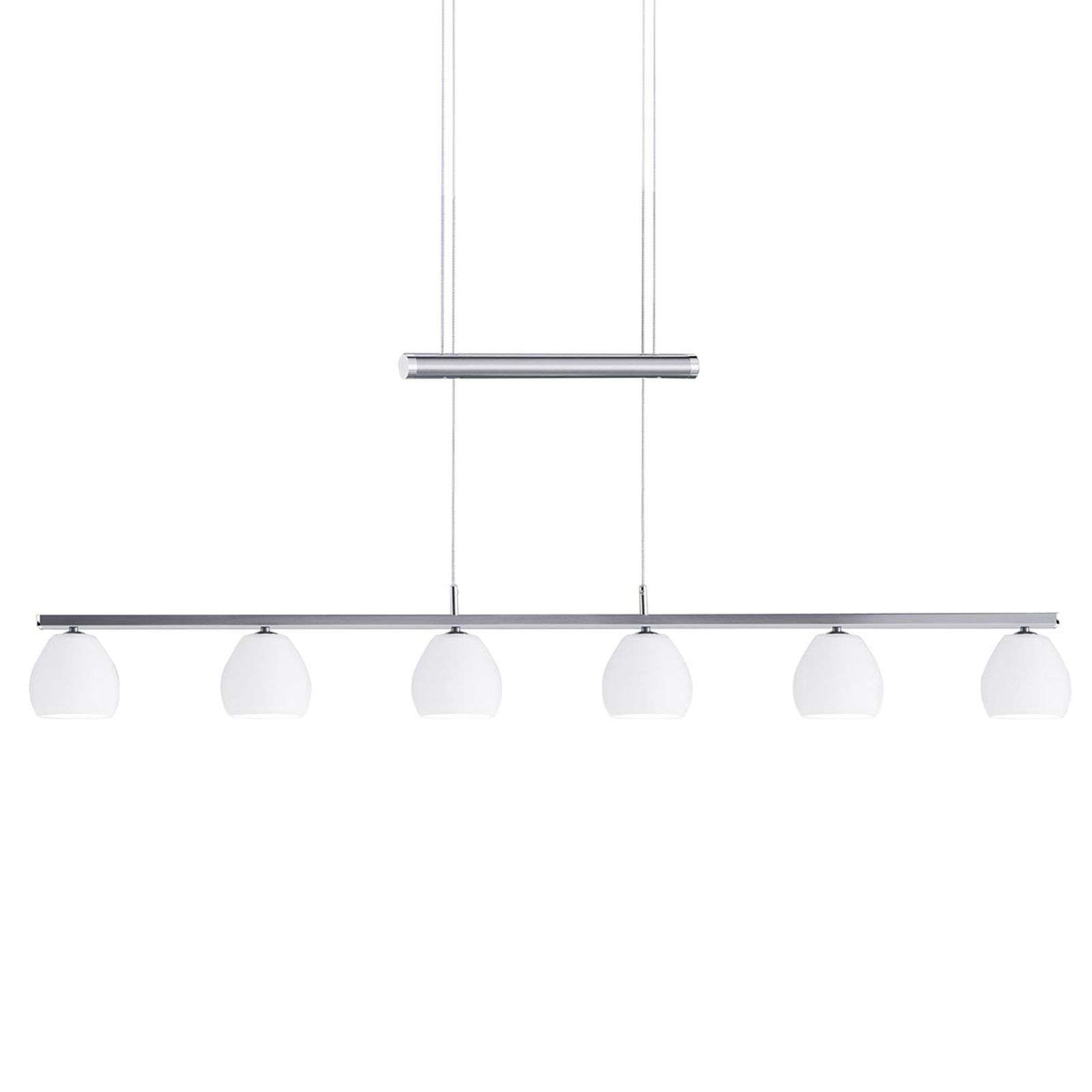 Suspension LED Caliente, 6 lampes, réglable