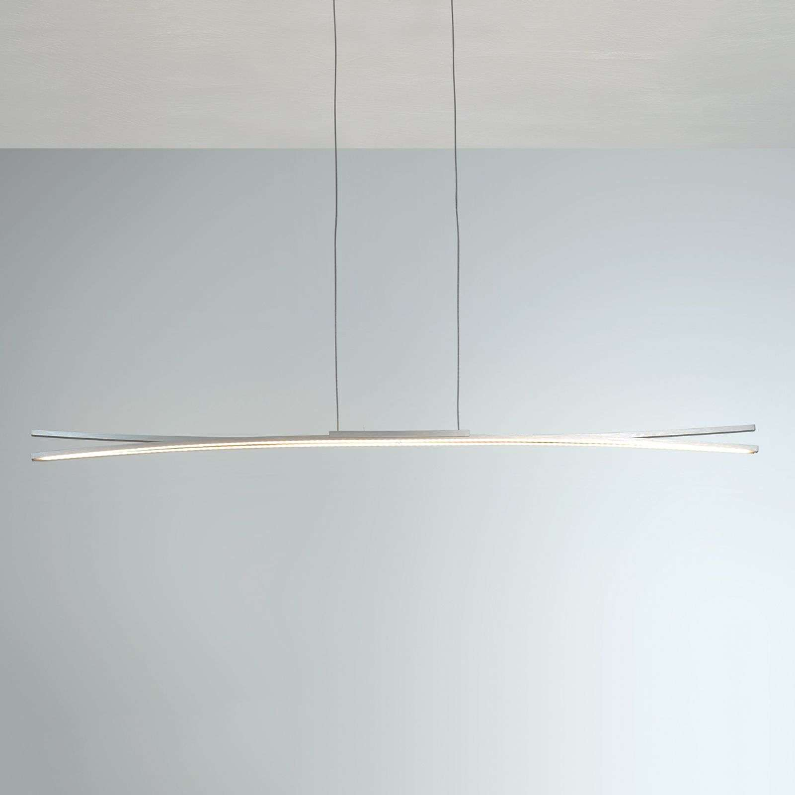 Suspension LED Convex, 120 cm avec bandes LED