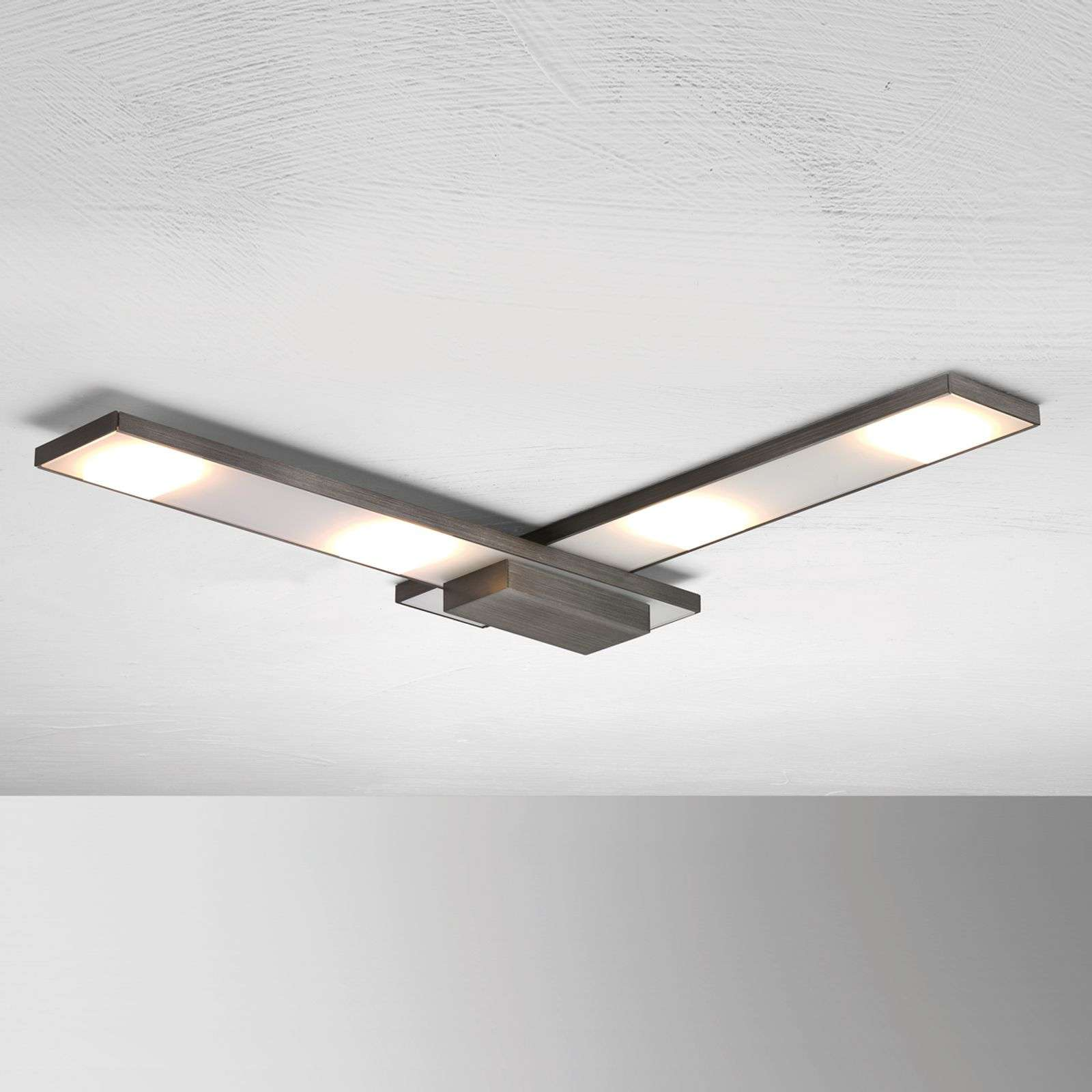 Plafonnier LED raffiné Slight, anthracite