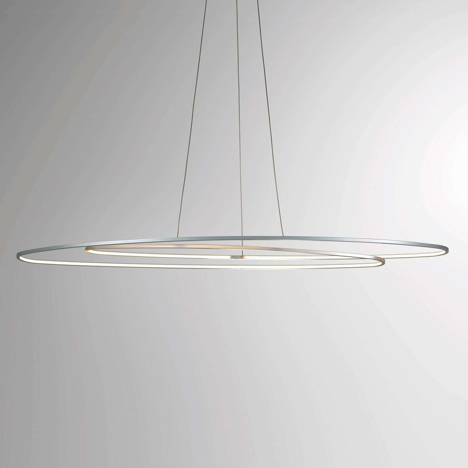 Suspension LED Slight de forme ovale, alu