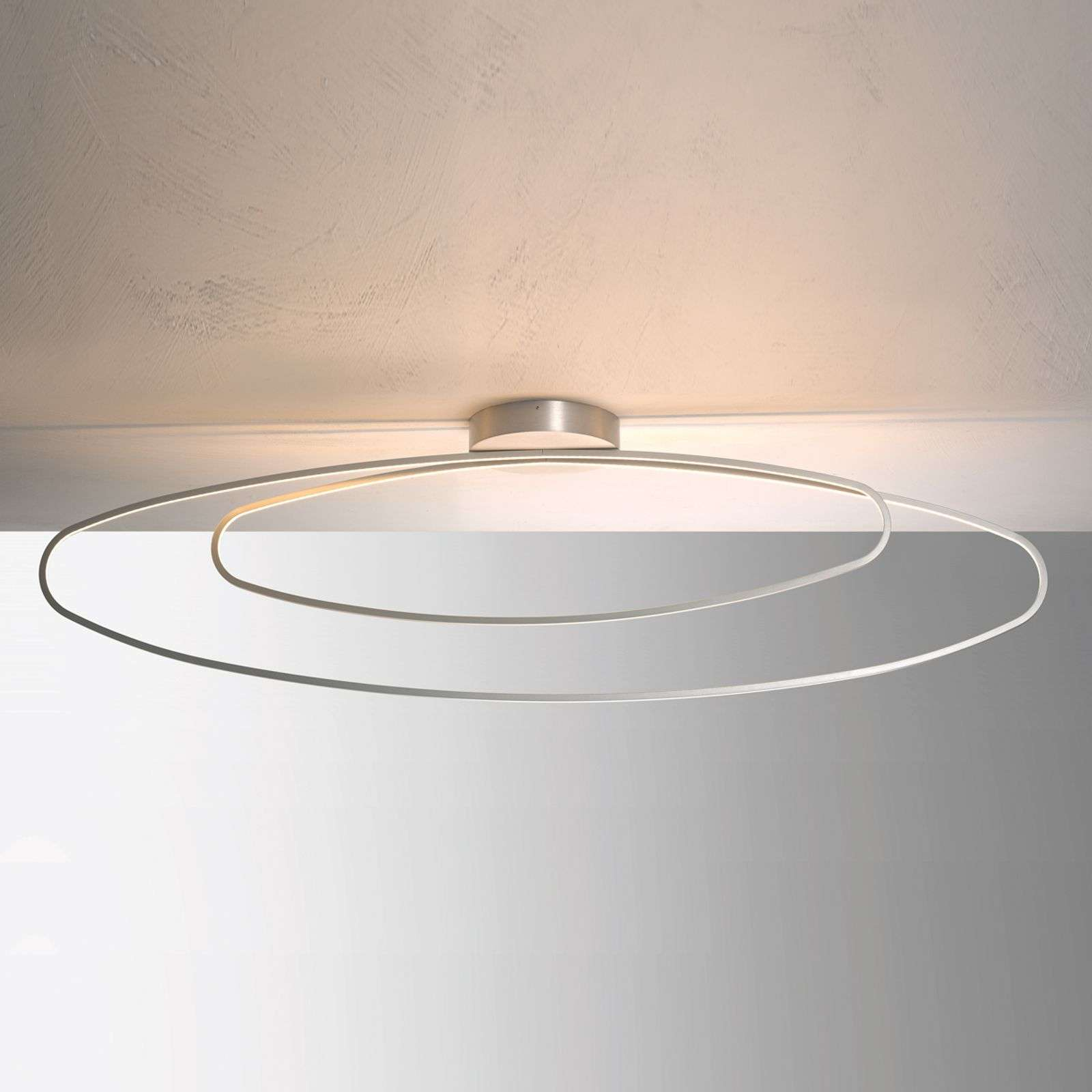 Plafonnier LED Slight filigrane, alu