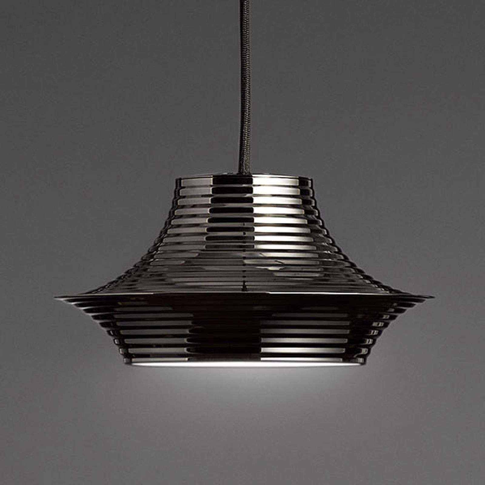 Bover Tibeta 03 - suspension LED, noire chromée