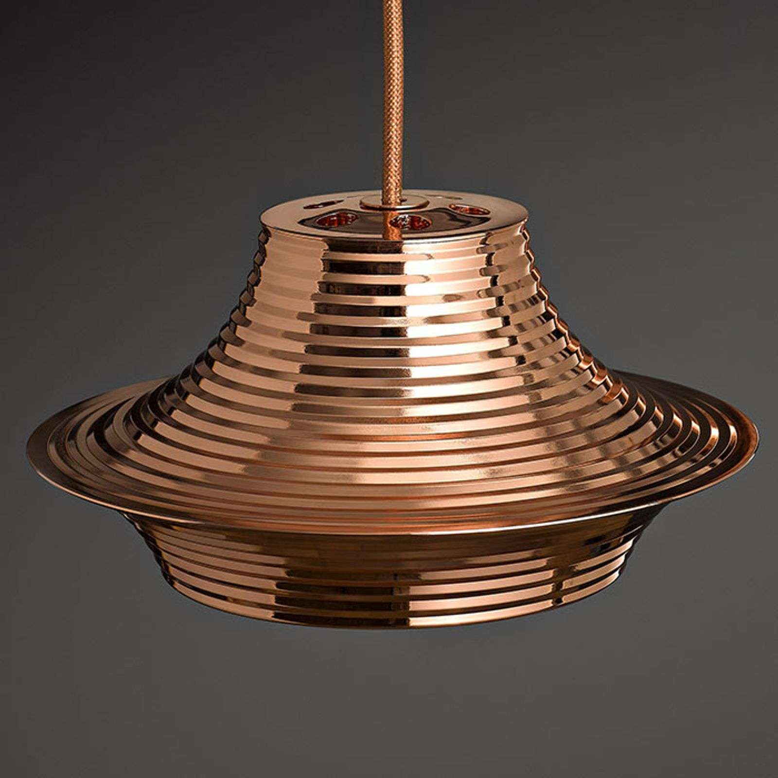Bover Tibeta 03 - suspension LED, cuivrée