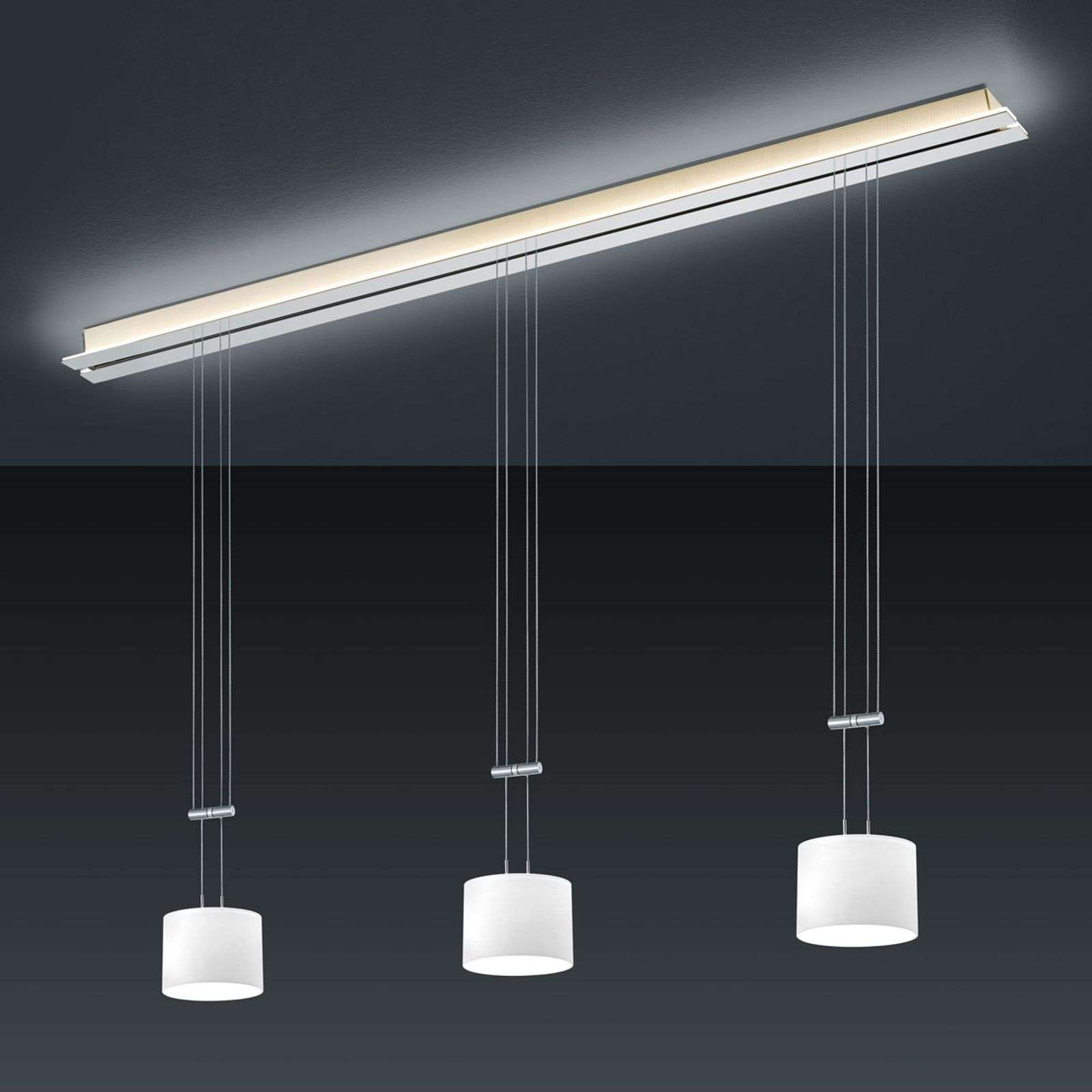 BANKAMP Strada Gracia suspension 3 lampes, 155 cm