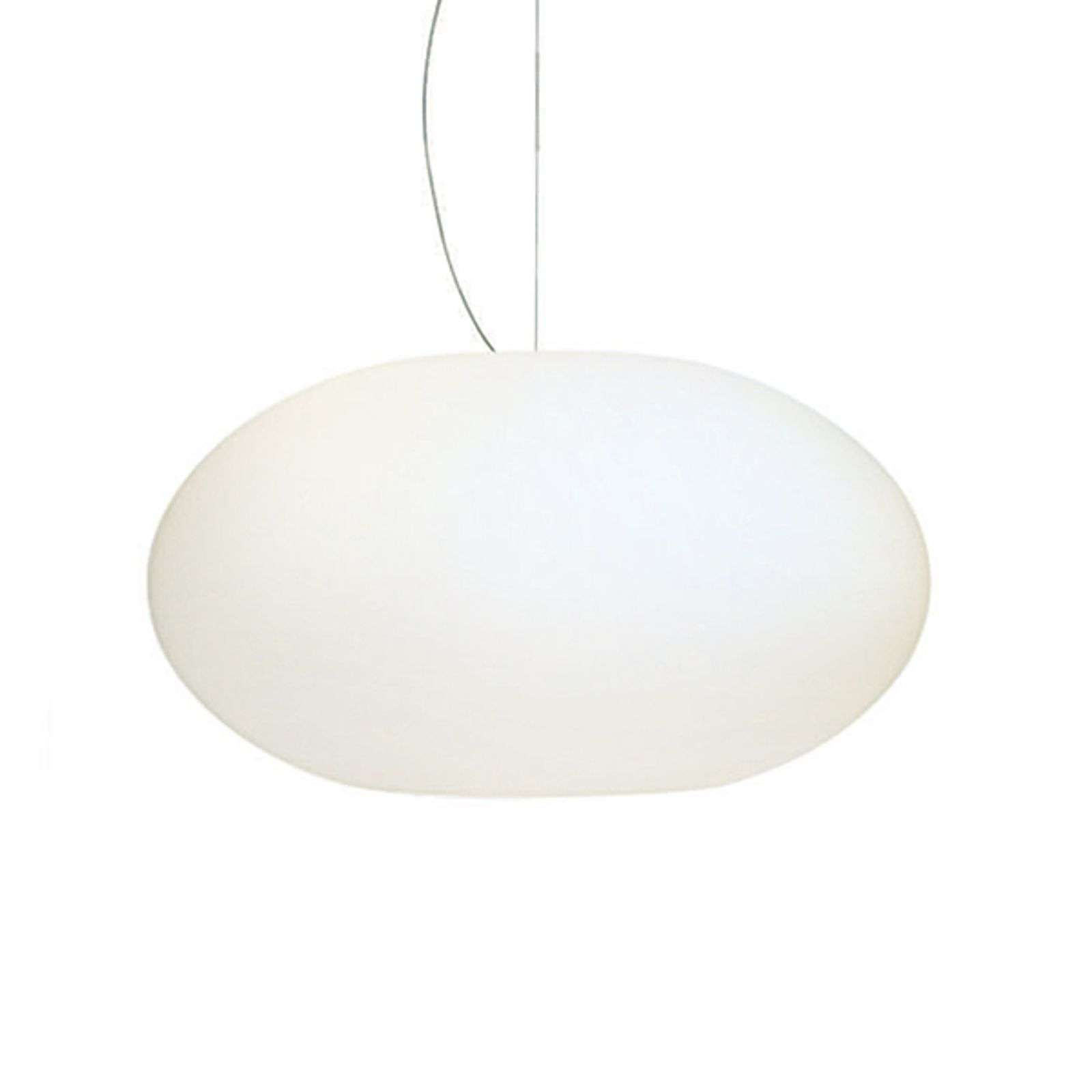 Suspension verre Aih 38 cm blanche brillante