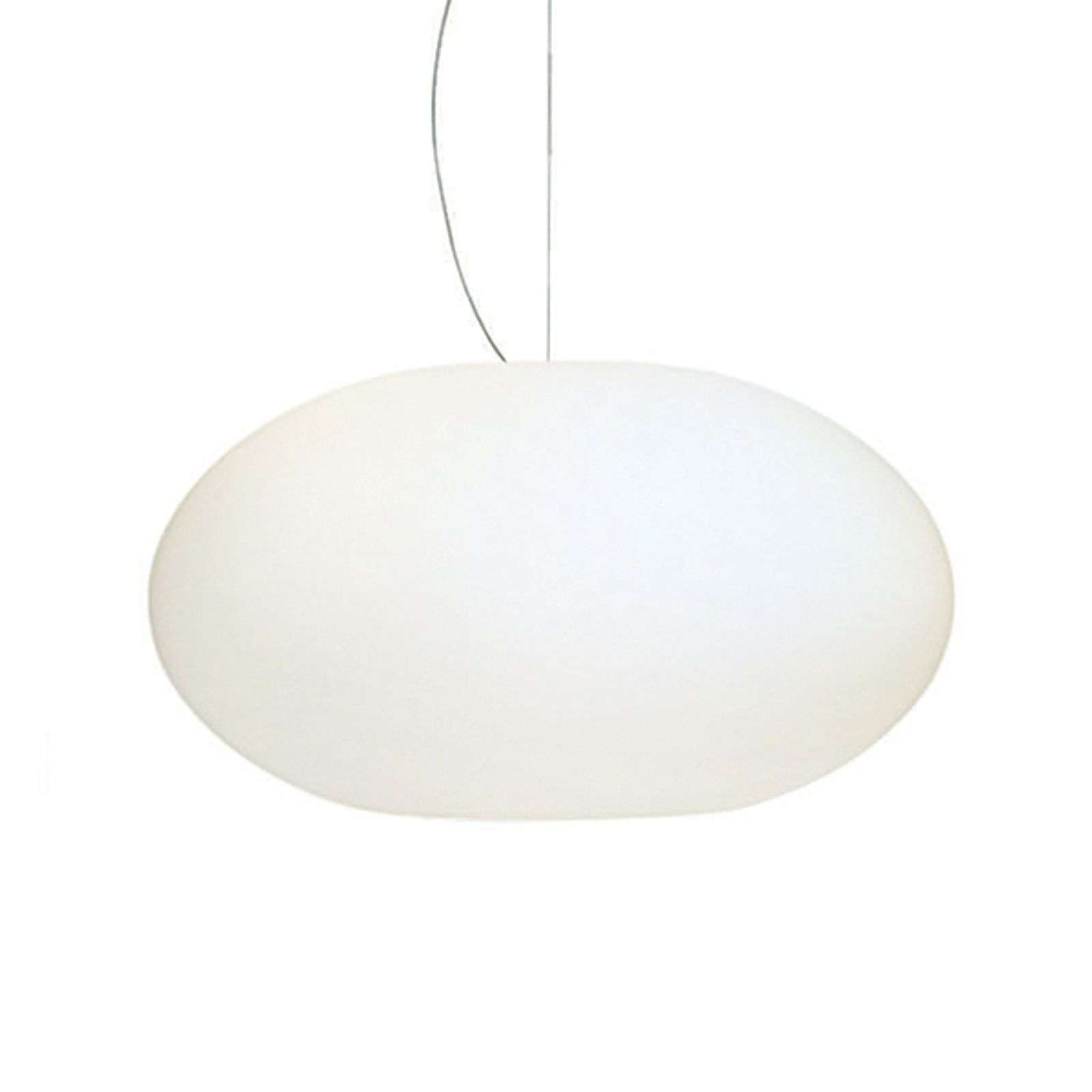 Suspension verre Aih 38 cm blanc mat