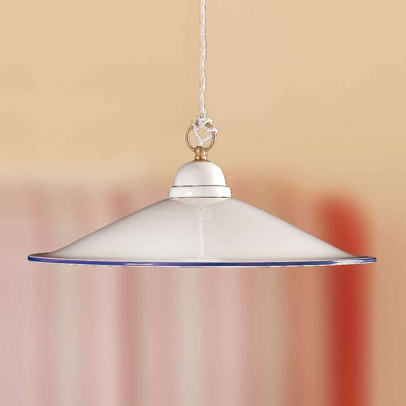 Belle suspension PIATTO en céramique 43 cm