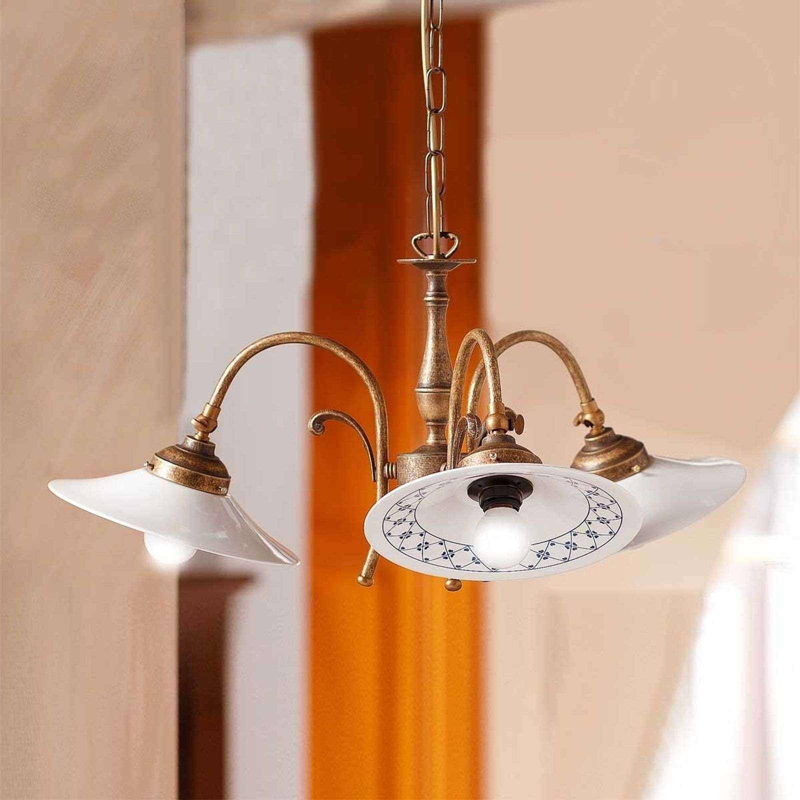 Suspension à 3 lampes ORLO campagnarde