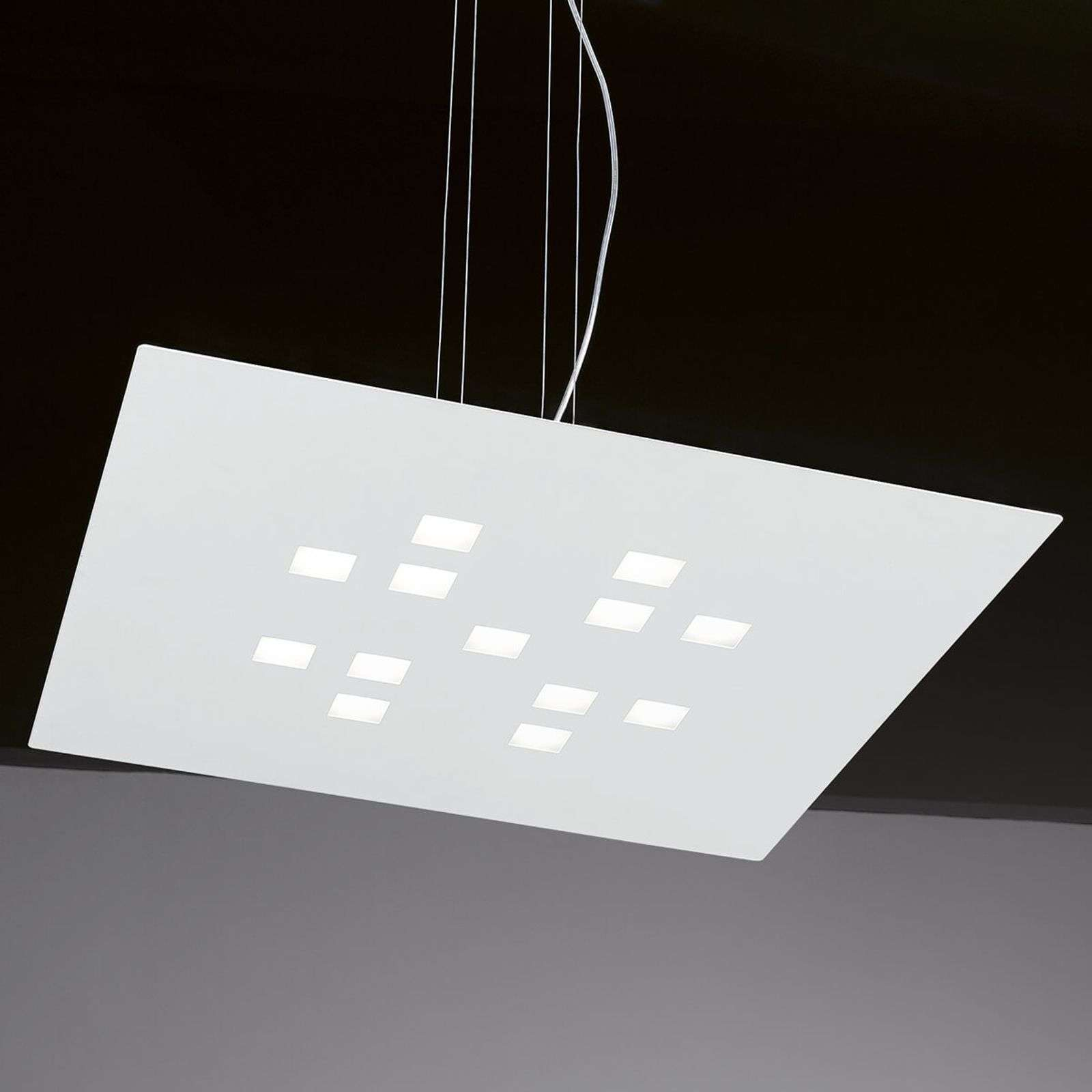 Suspension LED Plateau dimmable, blanc
