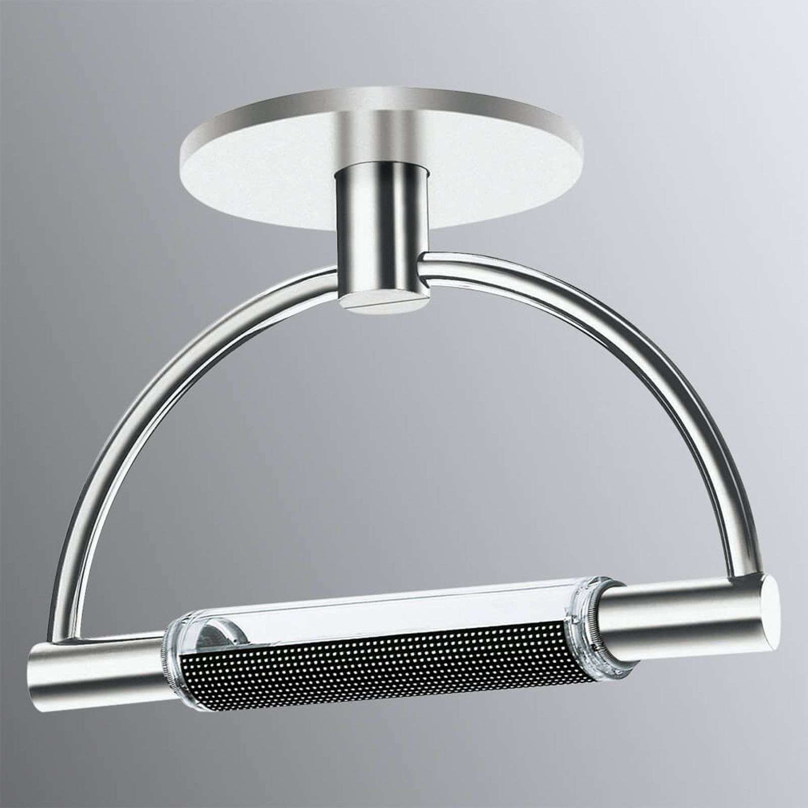 Plafonnier LED Gradi dimmable, finition chromée